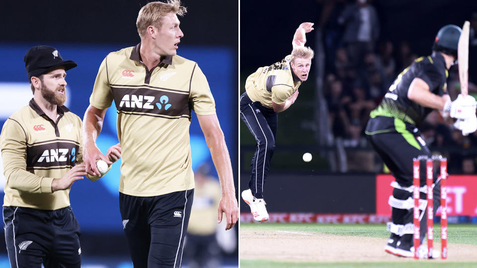 Kyle Jamieson, pictured here during New Zealand's T20 series against Australia.