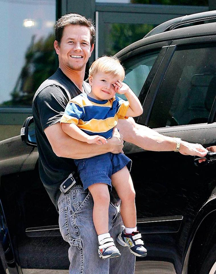 """Mark Wahlberg proudly announced that he and fiancee Rhea Durham are expecting their third child. Mark's son Michael (pictured above) and daughter Rhea will be joined by a baby brother in September. <a href=""""http://www.x17online.com"""" target=""""new"""">X17 Online</a> - July 23, 2008"""