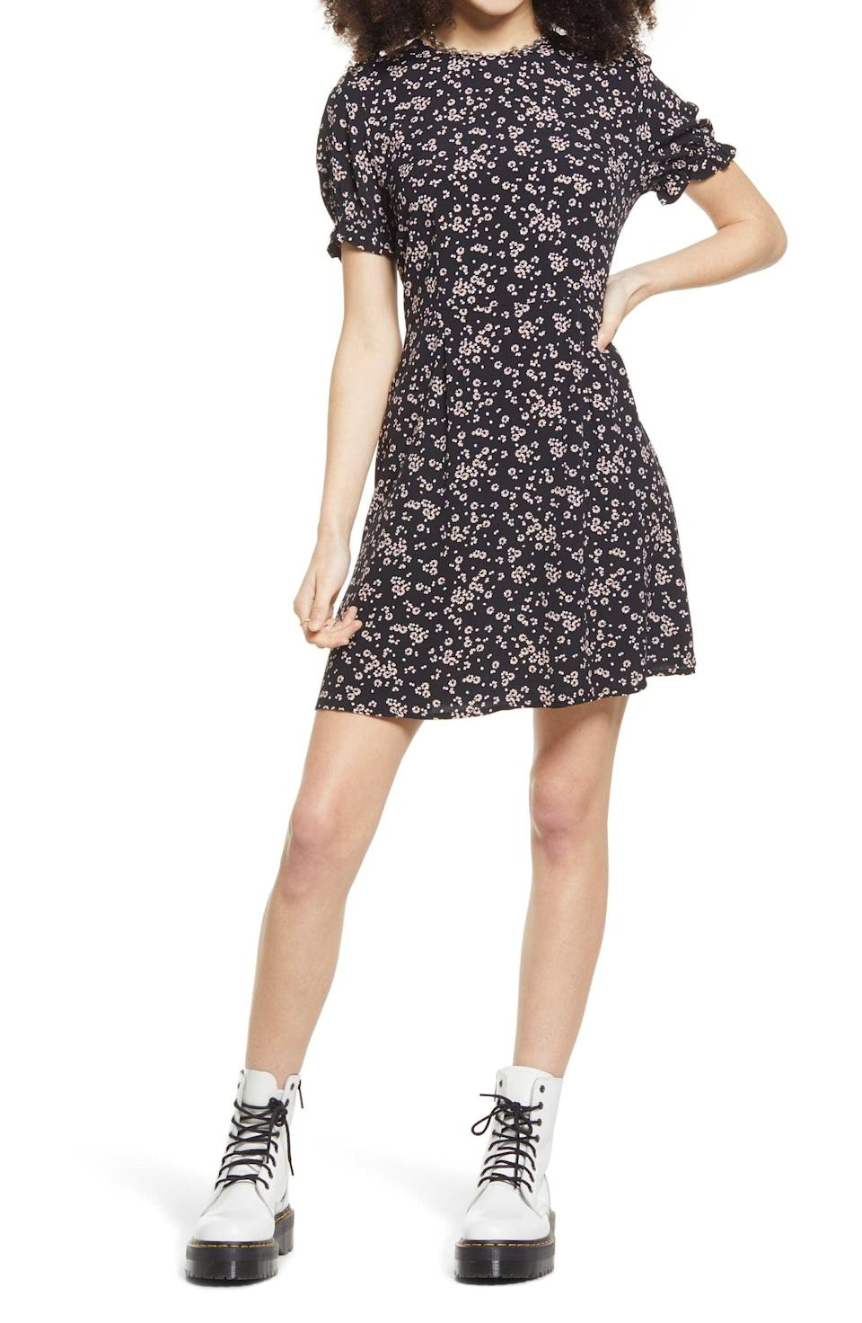 <p>Style this <span>BP. Skater Dress</span> ($39) with chunky boots for an edgy look.</p>