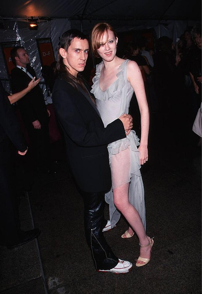 """<p>Elson still manages to stand out from Jeremy Scott in a mullet at the 1999 Metropolitan Museum of Art Costume Institute Gala for """"Rock Style"""" in New York, December 1999.</p>"""