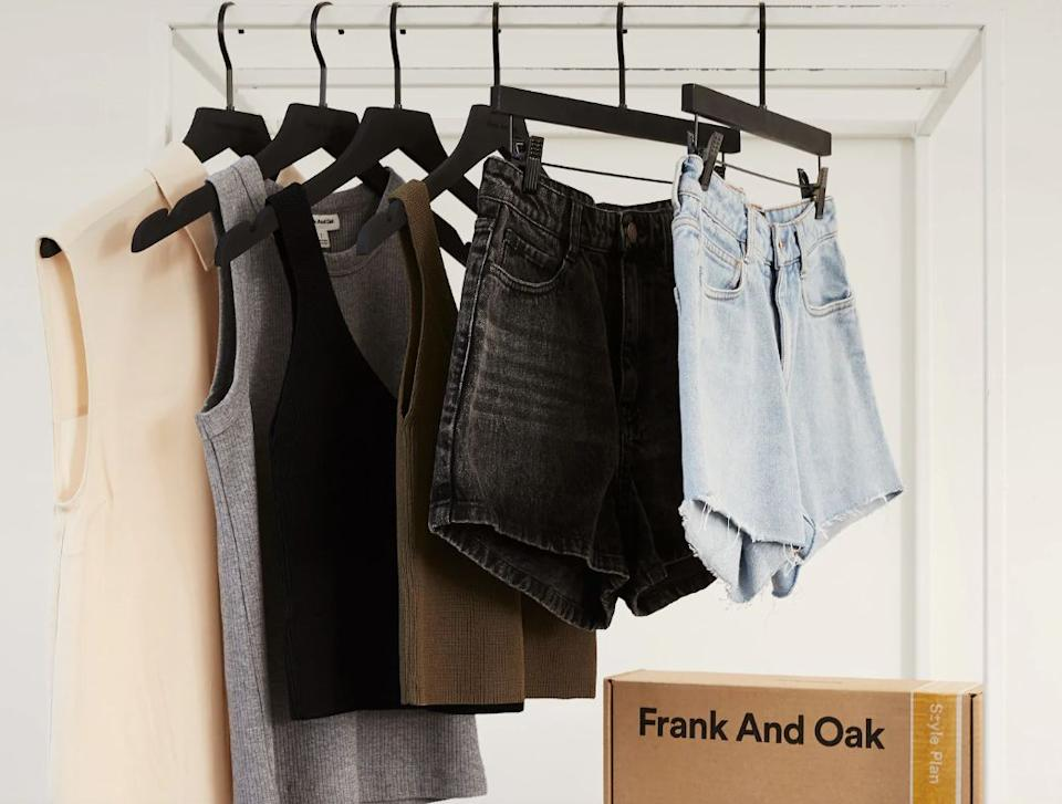 """<a href=""""https://fave.co/2vzUC0d"""" target=""""_blank"""" rel=""""noopener noreferrer"""">Frank and Oak</a>is focused on eco-friendly fashion. If you don't feel like planning out your outfits too much, the brand has a <a href=""""https://fave.co/2vzUC0d"""" target=""""_blank"""" rel=""""noopener noreferrer"""">monthlysubscription box</a>called """"Style Plan."""" A stylist picks out choices for you based on your answers to a style quiz. You can skip or customize your box <a href=""""https://fave.co/2vzUC0d"""" target=""""_blank"""" rel=""""noopener noreferrer"""">before it ships</a> and get 30 days to decide if you want to pay for those picks.<br /><br />Check out <a href=""""https://fave.co/2vzUC0d"""" target=""""_blank"""" rel=""""noopener noreferrer"""">Frank and Oak's monthly membership</a>."""