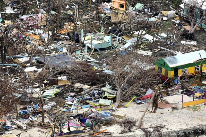 The wreckage of Hurricanes Irma and Maria in Puerto Rico | Courtesy of Kenny Chesney