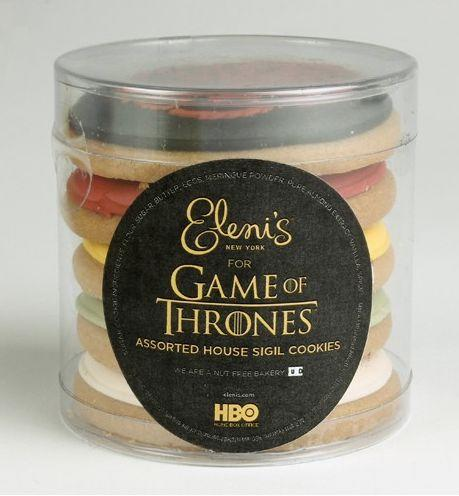 """Everyone wants a taste of power. It's the reason wars are waged and thrones are overtaken. Though power probably tastes a bit like blood, sweet, and freedom, the Game of Thrones House Sigil Mini Cookies taste significantly more delicious... <a href=""http://store.hbo.com/game-of-thrones-house-sigil-mini-cookies-set-of-5/detail.php?p=454210&v=hbo_shows_game-of-thrones_cookies"" target=""_blank"">The War of Five Kings has never tasted as sweet.""</a>"
