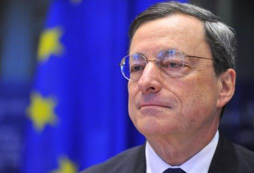 European Central Bank president Mario Draghi arrives on December 17, 2012 at the EU Headquarters in Brussels