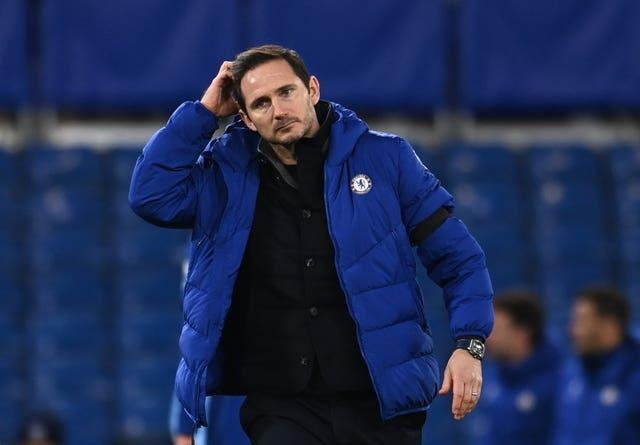 Frank Lampard reacts after defeat to Manchester City