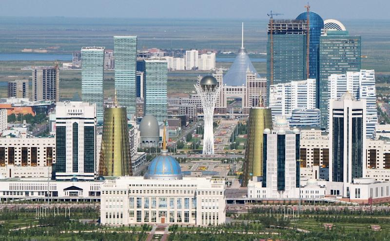 Kazakhstan's futuristic new capital Astana, built in the years since independence, symbolises Nazarbayev's drive to put the country on the map (AFP Photo/Stanislav Filippov)