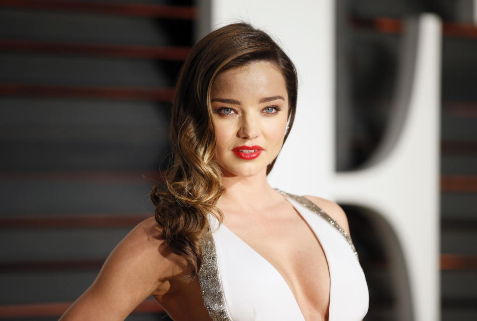 "Miranda Kerr said she ""adores"" Katy Perry, who is engaged to Orlando Bloom. (Photo: REUTERS/Danny Moloshok))"