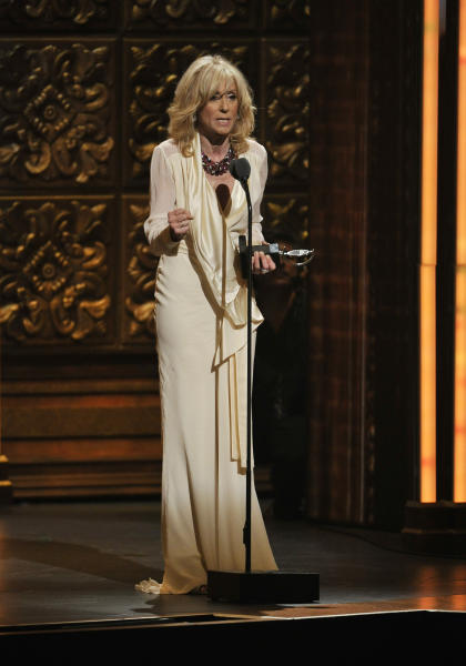 Judith Light accepts the award for best actress in a featured role in a play at the 66th Annual Tony Awards on Sunday June 10, 2012, in New York. (Photo by Charles Sykes /Invision/AP)