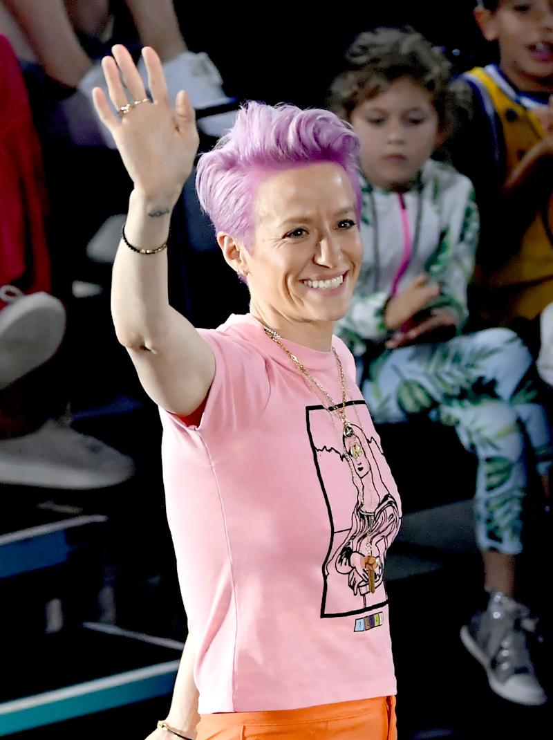 Megan Rapinoe attends Nickelodeon Kids' Choice Sports.