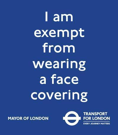 The exemption card can be downloaded and printed via the TfL website or shown on a mobile phone (TfL)