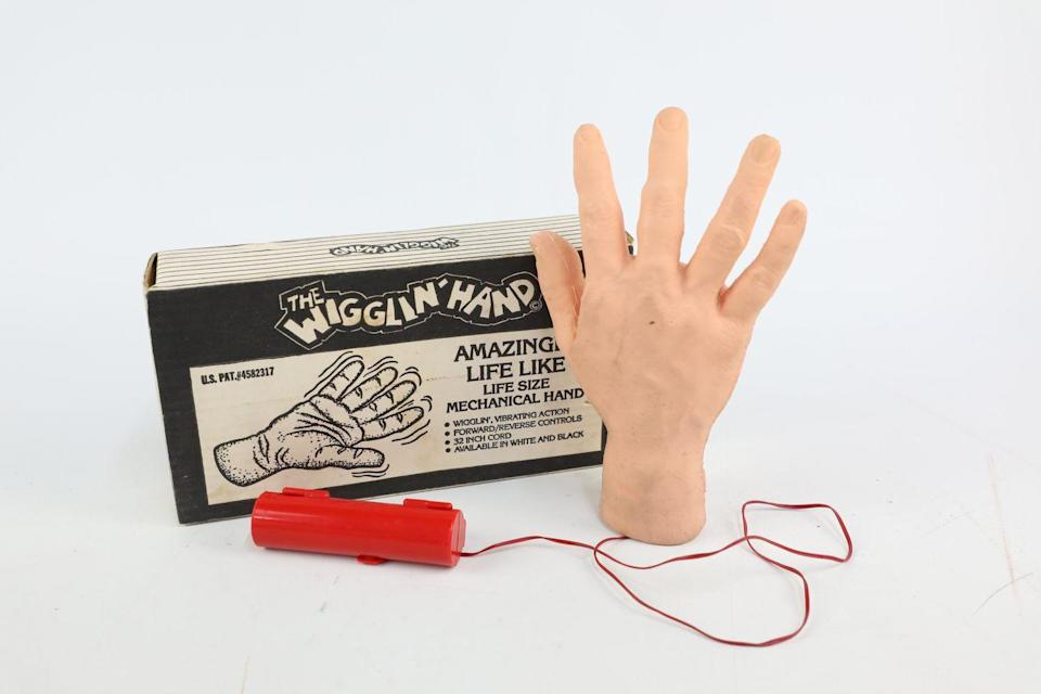 <p>'This 1983 life-like battery operated hand is produced by Vics Novelty, and most likely belongs in a haunted house on Halloween,' add Vintage Cash Cow. </p>