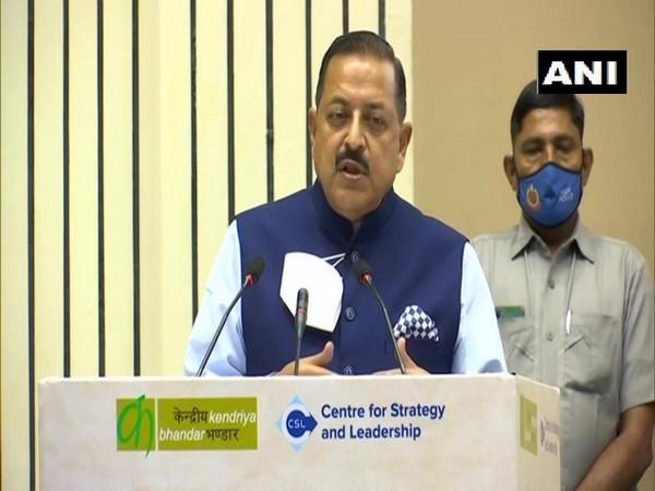 Union Minister Dr Jitendra Singh speaking at the event in New Delhi on Friday.