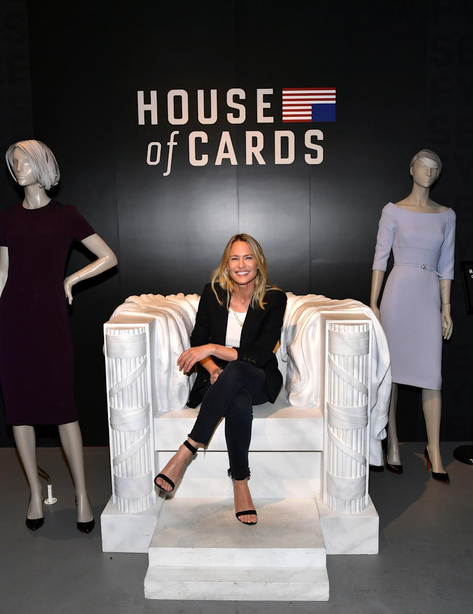 """LOS ANGELES, CALIFORNIA - JUNE 04: Robin Wright attends the Netflix """"House of Cards"""" FYSEE Event at Raleigh Studios on June 04, 2019 in Los Angeles, California. (Photo by Emma McIntyre/Getty Images for Netflix)"""