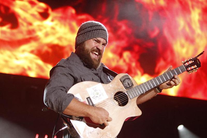 FILE - This June 9, 2012 file photo shows Zac Brown performing during the CMA Fan Fest, in Nashville, Tenn.  The Grammy-winning country group will be doing a special on-field performance at Kauffman Stadium in Kansas City ahead of the Home Run Derby on July 9. ( Photo by/Wade Payne/Invision/AP, File)
