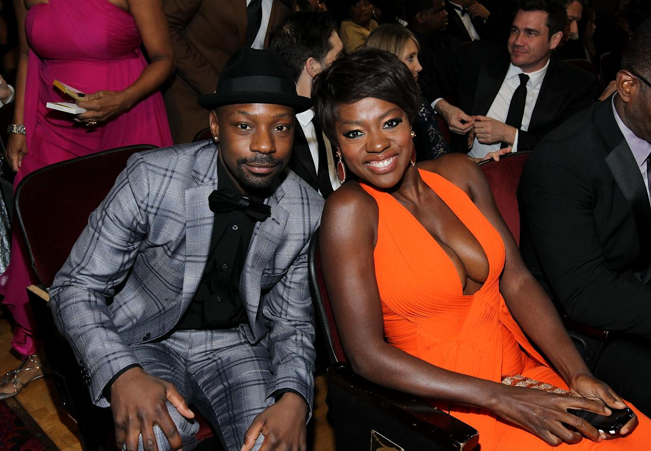 LOS ANGELES, CA - FEBRUARY 17:  Actors Nelsan Ellis (L) and Viola Davis attend the 43rd NAACP Image Awards held at The Shrine Auditorium on February 17, 2012 in Los Angeles, California.  (Photo by Mark Davis/Getty Images for NAACP Image Awards)