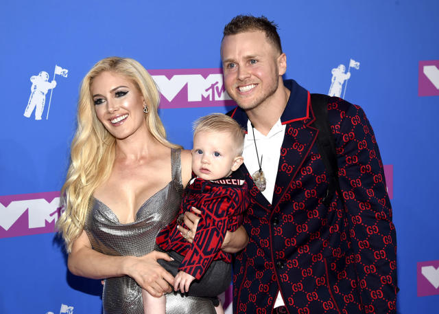 <p>Spencer Pratt, Heidi Montag, and their son, Gunner, hit the carpet together. Of course, Speidi is teaching Gunner about the fame game young! (Photo: Evan Agostini/Invision/AP) </p>