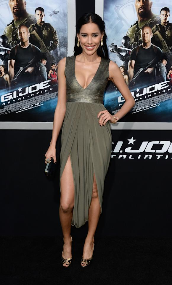 "HOLLYWOOD, CA - MARCH 28:  Actress Rebecca Da Costa arrives at the premiere of Paramount Pictures' ""G.I. Joe: Retaliation"" at TCL Chinese Theatre on March 28, 2013 in Hollywood, California.  (Photo by Frazer Harrison/Getty Images)"