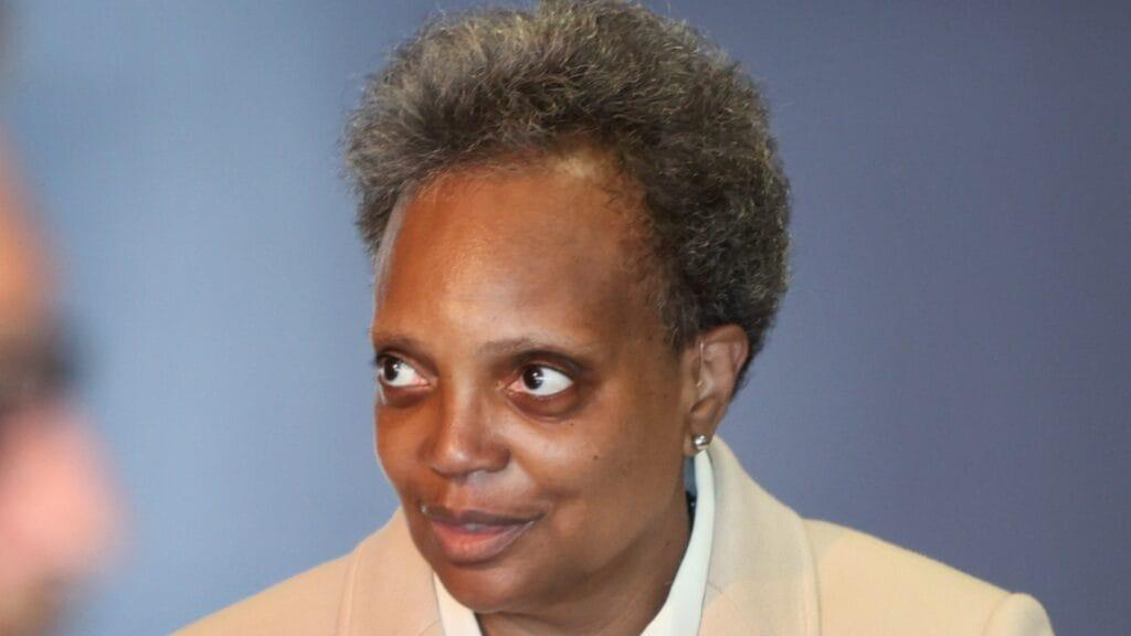 Over the objections of Chicago Mayor Lori Lightfoot (above), the Illinois statehouse has approved the creation of a fully-elected school board in the city. (Photo by Scott Olson/Getty Images)