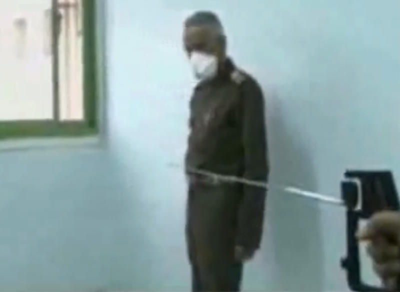 """This image made from undated video broadcast on Egyptian State Television on Tuesday, Feb. 25, 2014 shows a device that the Egyptian army claims will detect and cure AIDS and Hepatitis. Egypt's military is facing embarrassment after unveiling a so-called """"miraculous"""" invention of a set of devices that allegedly detect and cure AIDS, Hepatitis and other viruses. The army's carefully managed image as protector of the nation has suffered after many experts dismissed the claims, saying they aren't technically sound. (AP Photo via AP video)"""