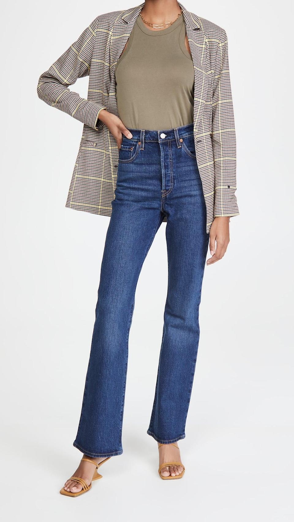 <p>These <span>Levi's Ribcage Boot Jeans</span> ($98) look great with heels. They're a great option if you're going from day to night, and we like them with heeled boots and sandals.</p>