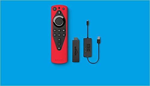 Fire TV 4K Essentials Bundle including Fire TV Stick 4K, Remote Cover (Red) and USB Power Cable…