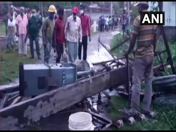 Transformer damaged in North 24 Parganas in West Bengal (Photo/ANI)