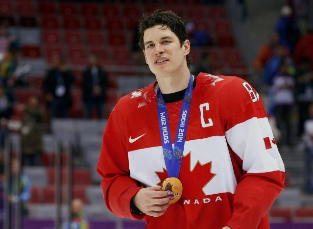 <p>Sidney Crosby helped Canada to back-to-back gold medals in Vancouver and then in Sochi. Crosy also captained the Pittsburgh Penguins to Stanley Cups in 2016 and 2017, winning MVP honors both years as well. </p>