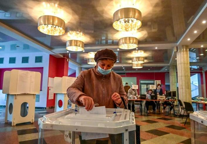 Putin's United Russia party was polling at historic lows ahead of the election (AFP/Yuri KADOBNOV)