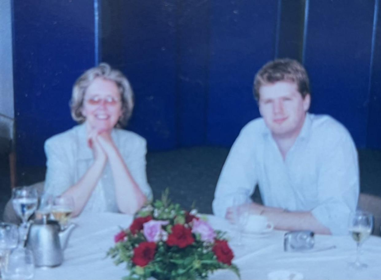 Ed with his mother (Ed Morrish)