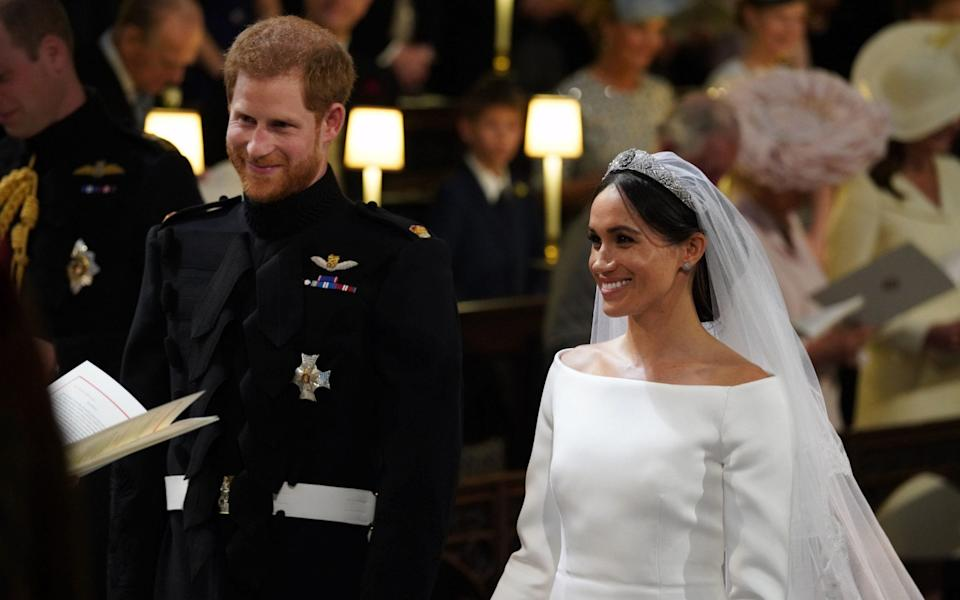 Prince Harry and Meghan Markle on their wedding day in 2018 - WPA Pool/Getty Images Europe