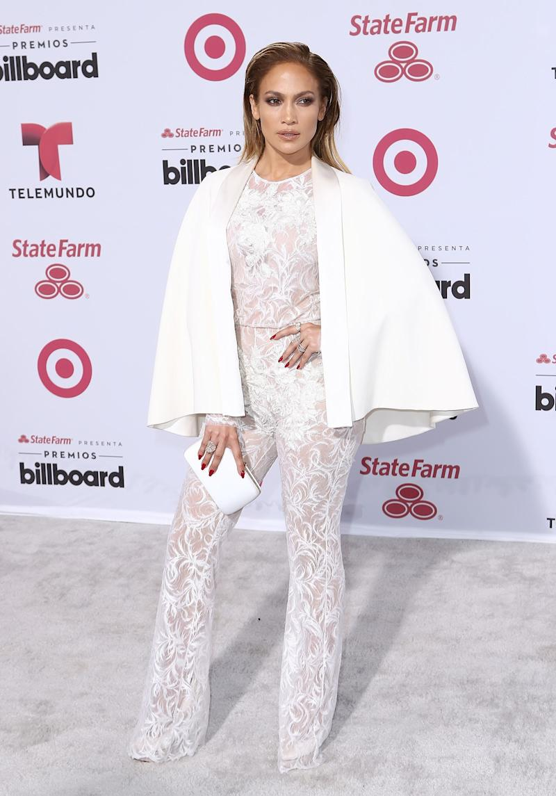 Jennifer Lopez in Zuhair Murad. Photo by Getty Images