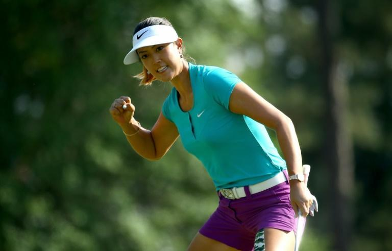 Back on course: Michelle Wie, now a mum, will tee up for the first time in almost two years at the Kia Classic this week