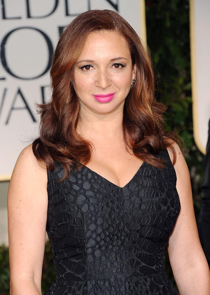 Actress Maya Rudolph arrives at the 69th Annual Golden Globe Awards held at the Beverly Hilton Hotel on January 15, 2012 in Beverly Hills, California.  (Photo by Jason Merritt/Getty Images)