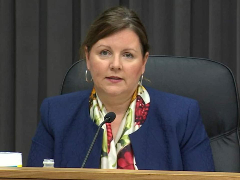 Dr. Jennifer Russell, New Brunswick's chief medical officer of health, declined to reveal any additional information Tuesday about the person under the age of 19 who is hospitalized with COVID-19. (Ed Hunter/CBC - image credit)