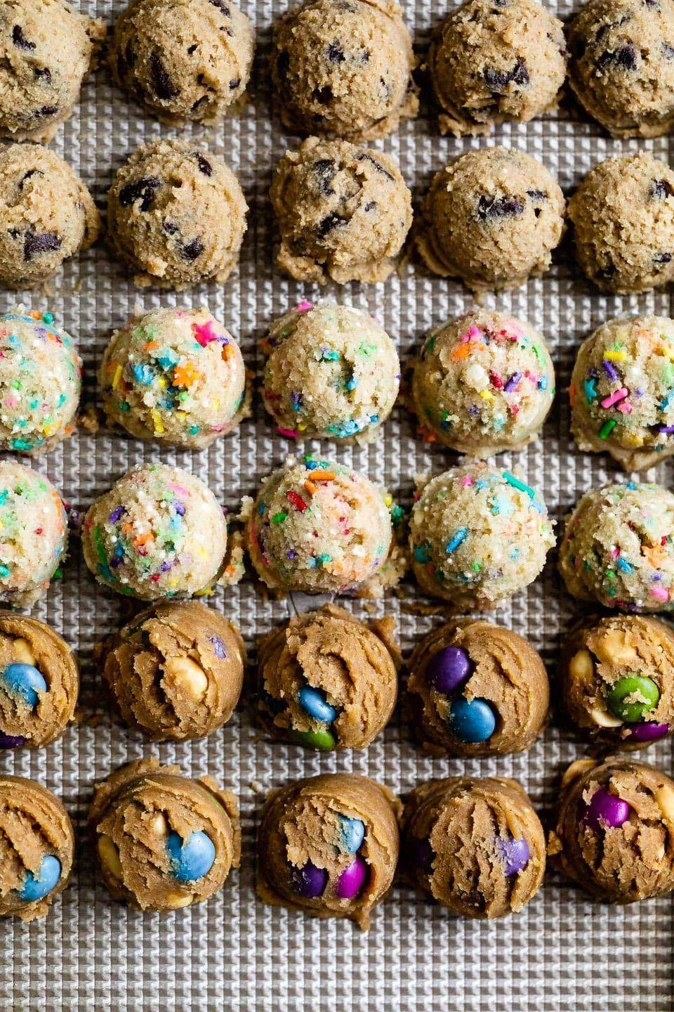 """<p>Let's be honest: Who can resist a scoop or two of cookie dough? Luckily, this version is perfectly safe to dig into. </p><p><a href=""""https://www.snixykitchen.com/gluten-free-edible-cookie-dough/"""" rel=""""nofollow noopener"""" target=""""_blank"""" data-ylk=""""slk:Get the recipe"""" class=""""link rapid-noclick-resp"""">Get the recipe</a>.</p>"""