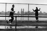 <p>Here, a man goes for a jog around Central Park's reservoir in 1971. </p>