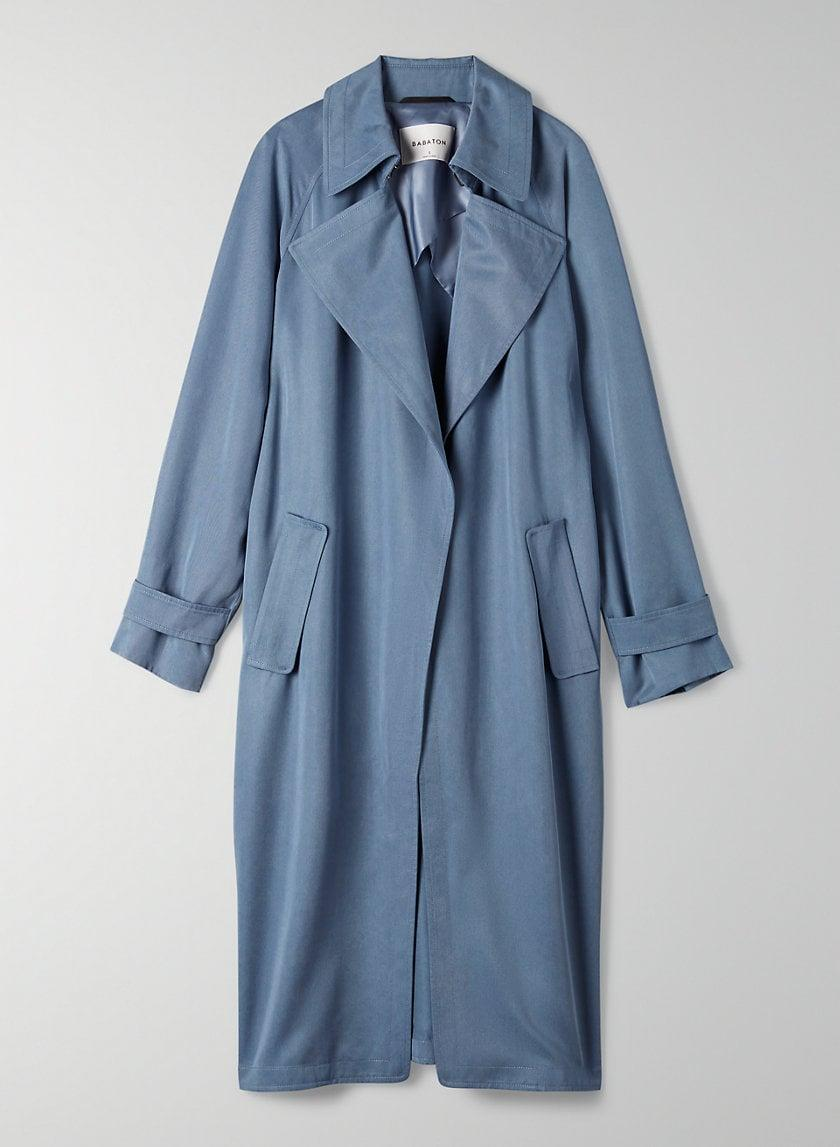 <p>An open front, flowy trench coat wears like your softest robe over sneakers and sweats.</p> <p><span>Aritzia Lawson Trench Coat</span> ($248) </p>