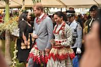 <p>The royal couple also met with the Prime Minister of Tonga while in Nuku'alo. </p>