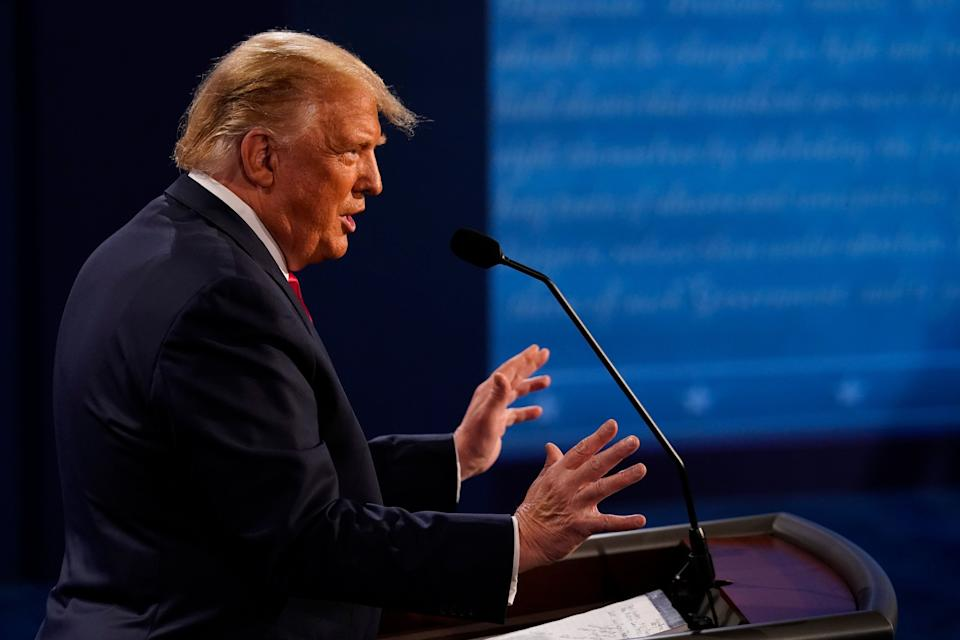 President Donald Trump adopted a less aggressive posture in his second and final 2020 presidential debate. But he did not produce any game-changing moments. (Photo: Morry Gash/Getty Images)