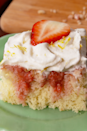 """<p>This cake is creative and different, but features traditional flavors – it's hard to beat the pairing of berries and cream. </p><p><em>Get the recipe from <a href=""""https://www.delish.com/cooking/recipe-ideas/recipes/a58357/strawberries-n-cream-poke-cake-recipe/"""" rel=""""nofollow noopener"""" target=""""_blank"""" data-ylk=""""slk:Delish"""" class=""""link rapid-noclick-resp"""">Delish</a>.</em></p>"""