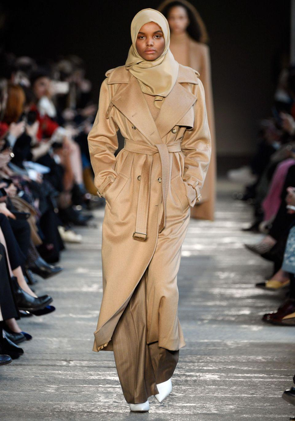 Ajak also suggests Somali-American Halima Aden, who was the first model to wear a hijab for several catwalks and high-end fashion campaigns. Source: Getty