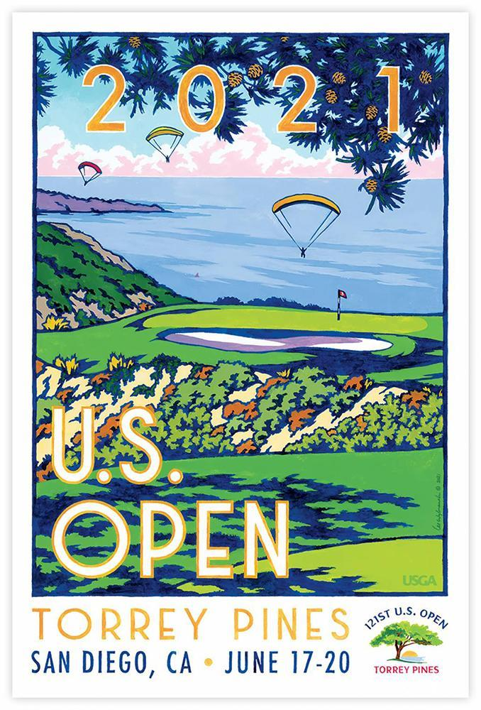 Official 2021 U.S. Openb poster