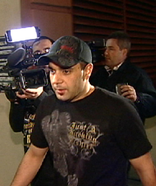 FILE - This Jan. 31, 2008 video frame grab release by AP Television shows Sam Lutfi leaving UCLA medical center after visiting Britney Spears in Los Angeles. Lutfi, Britney Spears' self-styled manager, took the stand in his defamation lawsuit against her parents on Tuesday, Oct. 23, 2012 in Los Angeles, claiming he acted to protect her from paparazzi and others during a critical period in her life. (AP Photo/APTN, File)
