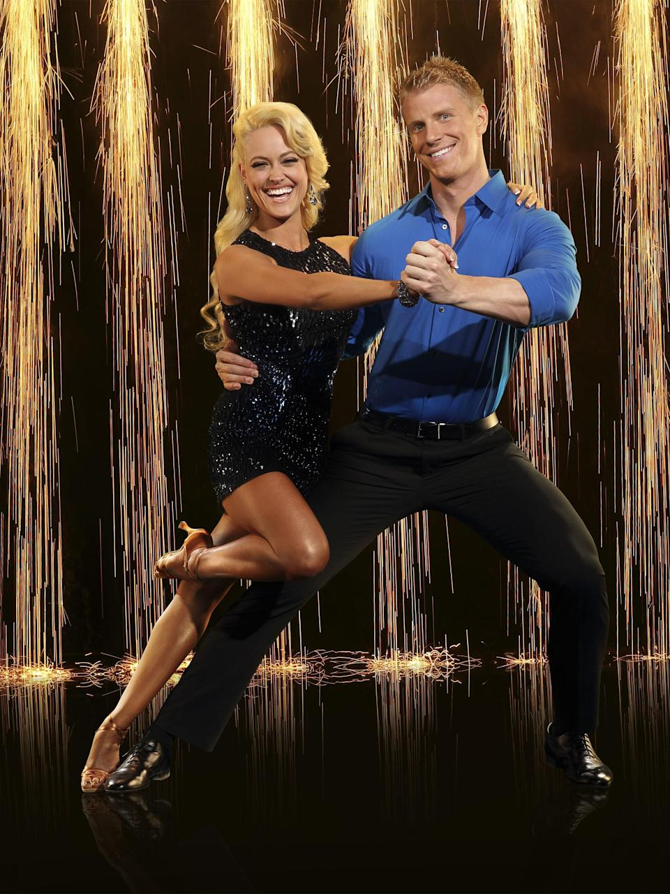 """Lowe came in sixth place during season 16 in 2013, but it didn't come without consequences. The former Bachelor previously told <a href=""""https://www.etonline.com/news/215485_sean_lowe_says_doing_dancing_with_the_stars_after_the_bachelor_was_toxic_for_relationship_with_catherine"""" rel=""""nofollow noopener"""" target=""""_blank"""" data-ylk=""""slk:Entertainment Tonight"""" class=""""link rapid-noclick-resp""""><em>Entertainment Tonight</em></a> that joining the dancing competition right after getting engaged to his now wife Catherine Guidici wasn't exactly the healthiest choice. """"I didn't know the time commitment I was signing up for when I decided to do the show,"""" he said. """"I was rehearsing 10 or 12 hours a day, so my new fiancée was basically just on her own, which was really unfair to her."""" But it turns out the struggles the couple faced while Lowe was competing on the show ended up working out in their favor: """"To be able to overcome that giant hurdle,"""" he says, """"I really felt like, 'Yeah, there's no doubt about it—she's the one."""""""