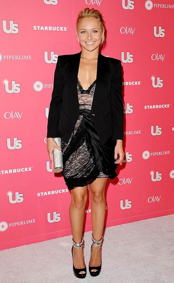 """""""Scream IV"""" star Hayden Panettiere -- the evening's recipient of """"The Style Chameleon"""" honor -- got glitzy with some hot Jimmy Choo shoes and tube clutch and a Camilla and Marc dress. What style will the 21-year-old morph into next? Jon Kopaloff/<a href=""""http://www.filmmagic.com/"""" target=""""new"""">FilmMagic.com</a> - April 26, 2011"""