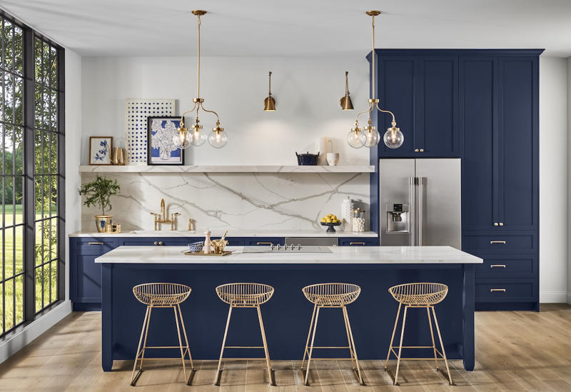 sherwin-williams color of the year blue kitchen island