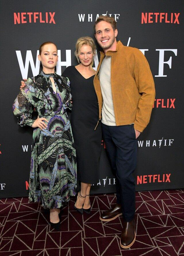 jane Levy, Renee Zellweger and Blake Jenner at what/if screening in LA