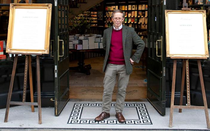 Hatchards' general manager Francis Cleverdon has been a bookseller for 50 years - Rii Schroer