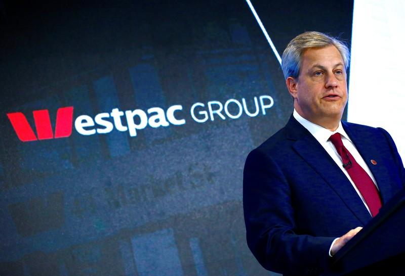 FILE PHOTO: Australia's Westpac Banking Corp's CEO Brian Hartzer speaks during a media conference in Sydney, Australia