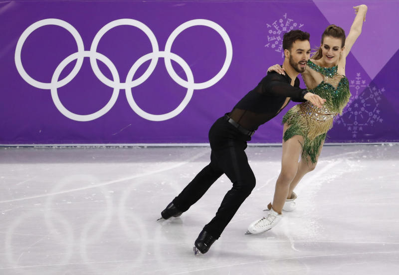 French Olympic Ice Dancer Suffers Serious Wardrobe Malfunction